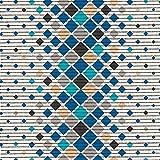 (7,49€/m) Weichschaummatte Antirutschmatte Badezimmermatte Sicherheit Badvorleger Badezimmer WC Meterware - Küche 65cm breite | Farbe : Karo Muster blau-türkis-grau 460-1