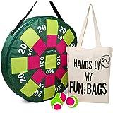 Doelgooi Giant opblaasbaar dartbord met ballen en een dikke katoenen draagtas, outdoor tuinspel