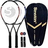 Senston Tennis Racket-27 inch 2 Players Tennis Racket Professional Tennis Racquet,Good Control Grip,Strung with Cover,Tennis