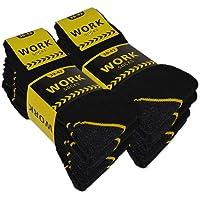 sockenkauf24 10 o 20 Paia Calze Lavoro Uomo WORK per Scarpe Antinfortunistica Rinforzate Cotone Traspirante