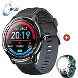 Smartwatch Orologio Intelligente con 1.3'' Schermo a colori tattile completo IP68 Fitness Tracker Cardiofrequenzimetro Pressi