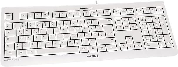 Cherry KC1000 Corded Ultraflat USB-Tastatur grau