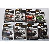Hot Wheels EXCLUSIVE BMW SERIES SET OF 8 RED BMW M1, WHITE '92 BMW M3, ORANGE BMW E36 M3 RACE, GREEN BMW 2002, BLUE BMW…