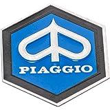 RMS 742691 Escudo «Piaggio» Hexagonal En Cascada De Aluminio, Autoadhesivo 31X36 Mm para Vespa Px T5, Etc