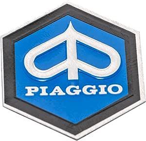 Emblem Piaggio 6 Eck Kaskade Für Vespa Px T5 Etc Aluminium Selbstklebend 31x36 Mm Auto