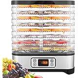 COOCHEER Déshydrateur Aliment 8 Plateaux, Déshydrateur de Légume de Fruit avec Minuterie et Réglages de Température, écran à