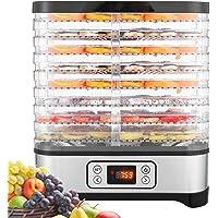 COOCHEER Déshydrateur Aliment 8 Plateaux, Déshydrateur de Légume de Fruit avec Minuterie et Réglages de Température…