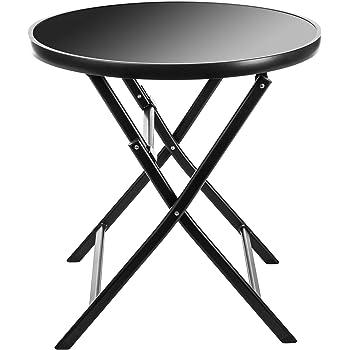 greemotion Table de jardin ronde bistrot – Table de balcon ...