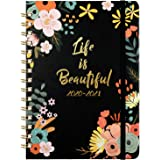 2020 2021 Diary - A5 Week to View Academic Diary with Monthly Tabs, from July 2020 to June 2021, 15x21cm, Black