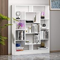 HOMIDEA Venus Étagère à Livres – Étagère – Meuble de Salle de séjour, Bureau – Design Moderne (Blanc)