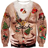 Rave on Friday Weihnachtspullover Neuheit 3D Druck H/ässlich Weihnachten Sweatshirts Pullover Jumpers Ugly Christmas Sweater S-XXL