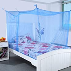 Varshine || Single Bed High Quality Mosquito Net with Cotton Border || 4X6 Feet (Colour May Very)