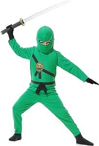 Child Green Ninja Fancy Dress Costume X-Small (4-6)
