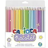 CARIOCA Lápices Pastel | Set Lápices de Colores PASTEL hexagonales, Lápices de Madera con Mina Resistente, para NIños y Adult