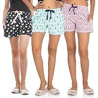NITE FLITE Women Cotton Shorts | Pack of 3