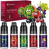 Ciberate, 5 Packs 10ml Multi Fruit E Liquid Vape Liquid for Vape E Cigarettes, E Juice for E Cig Vape Starter Kits…