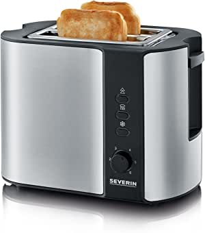 Severin AT 2589 Automatik Toaster Edelstahl Röstzeitelektronik Temperatursensor