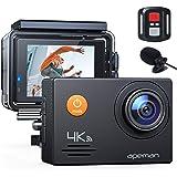 APEMAN Action Cam A79 PRO, 4K 20MP WiFi Impermeabile 40M con Telecomando e Microfono Esterno Fotocamera Subacquea Digitale, A