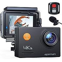APEMAN Action Cam A79 PRO, 4K 20MP WiFi Impermeabile 40M con Telecomando e Microfono Esterno Fotocamera Subacquea…