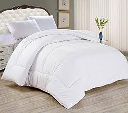 All Seasons Microfiber Duvet/A/c Comforter/Quilt - White