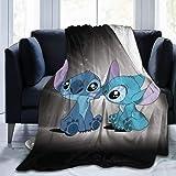 FFFFFFFFFF Lilo Stitch Blanket surdimensionné Chaud Adulte Super Doux Couverture avec Doux Anti-Boulochage Flanelle pour Adul