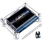 Quimat TFT Touchscreen, 3.5 Zoll TFT LCD Display Monitor mit Schutzhülle Stützen Sie Alle Himbeer PI System, Video Film Spielen, Arcade Spiel, HDMI Audioeingang (3,5HDMI LCD + Gehäuse) QC35C