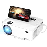"TOPVISION Mini Beamer mit Screen Mirroring,4500 Lumen Heimkino Beamer Full HD 1080P Video Beamer mit 180"" Display, 60000…"