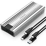 Inateck Carcasa para Disco Duro M.2 NVMe transmisión de 10Gbps USB 3.2 Gen 2, Compatible con M.2 SATA y SSD NVMe (2230, 2242,
