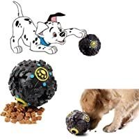 Sage Square Giant Playful Musical Cum IQ Treat Dispenser Chew Ball/Bite Resistant/Training Toy for Dog/Puppy/Cat/Kitten (Black)