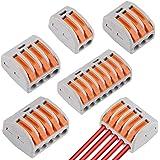 60 Pcs Conectores de Cable compactos Palanca Tuerca Cable Conector Bloque de Terminales Surtidas Conector