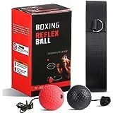 OOTO Balón de boxeo reflex mejorado, pelota de entrenamiento de boxeo, entrenamiento de velocidad Mma adecuado para adultos y