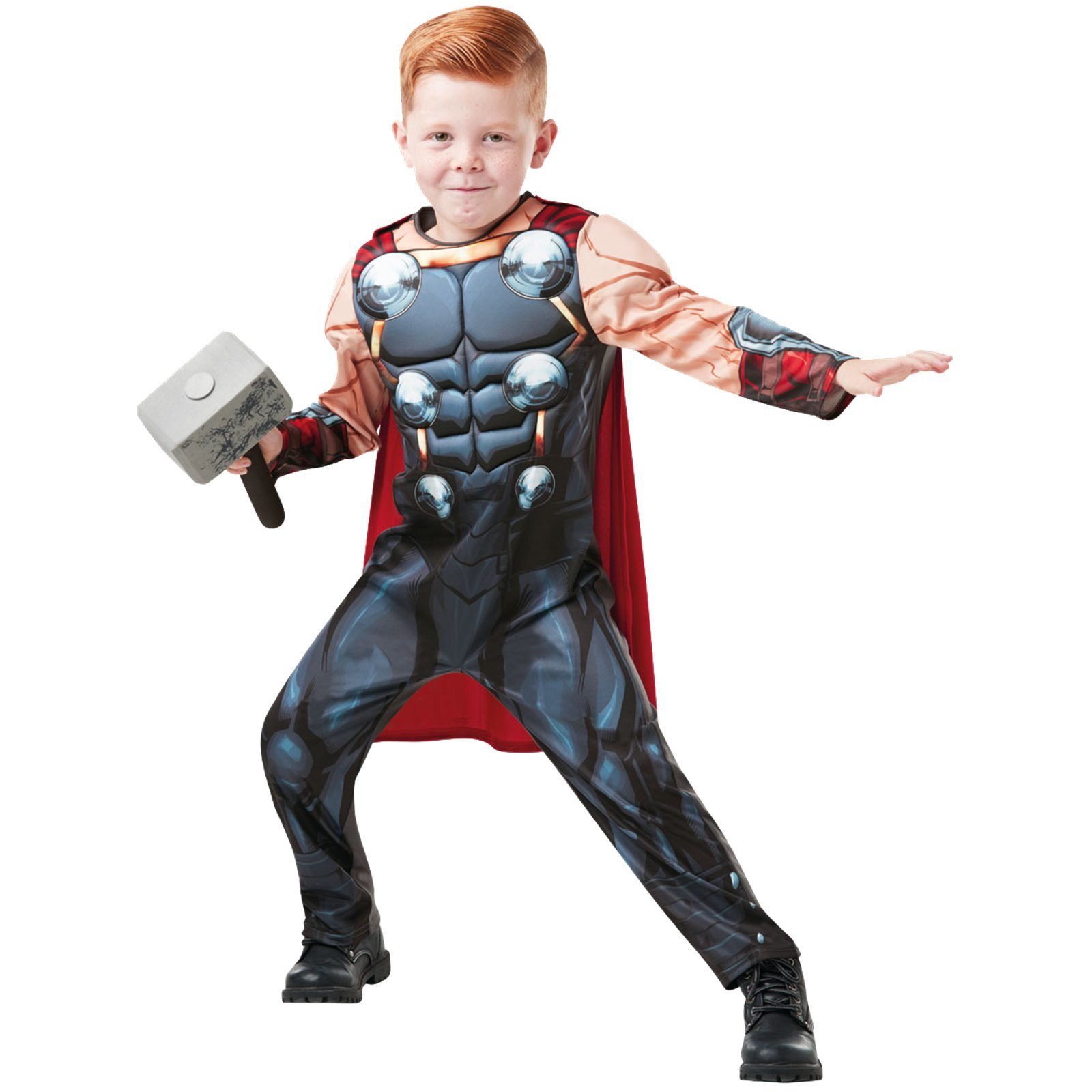 5b8cb99c1 Rubies 640836S Marvel Avengers Thor Deluxe - Disfraz infantil para niños,  talla pequeña - Disfraceslandia
