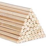 Tiges longues en bambou pour loisirs créatifs, Bâtons de bambou 30cm, bâtons de travaux manuels bâton rond, bois rond pour tr