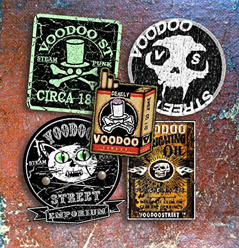 Voodoo StreetTM Steampunk Aufkleber-Set