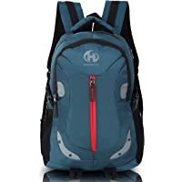 HEROZ Harbour Unisex Nylon 28 L Travel Laptop Backpack Water Resistant Slim Durable Fits Up to 17.3 Inch Laptop Notebook…