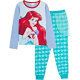 Disney Girls The Little Mermaid Ariel Pyjamas Princess Dress Up Full Length Novelty Pjs with Glitter Lounge Pants