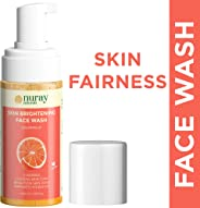Nuray Naturals Vegan Face Wash for Fairness, Brightening and Skin Glow Hydrating with Foaming Pump, 100 ml