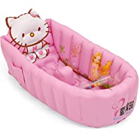 Powerpak Inflatable Baby Bath Tub for Infant (Green, Pink and White)