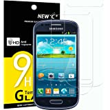NEW'C Pack of 2, Glass Screen Protector for Samsung Galaxy S3 Mini, Anti-Scratch, Anti-Fingerprints, Bubble-Free, 9H…