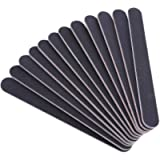Stadux 12 Pack Nail File Set, Double Sided Emery Board-Nail Buffer Files kit 100/180 Grit