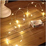 PESCA 3AA Battery Powered, Waterproof, Copper Wire String Fairy Lights with 50 LEDs Warm White 5 Meter