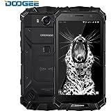 """Telephone Portable Incassable, DOOGEE S60 Smartphone 4G IP68 Étanche Antichoc,Écran 5,2"""" FHD Helio P25 Octa Core 6Go + 64Go Caméra 21MP 5580mAh 12V2A Charge Rapide Android 7.0 Double SIM - Noir"""