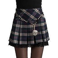 EMMA La Scozia Gonna Plissé Donna Elegante Ini Inverno Alta Elasticità di Pizzo (a Doppia Catena e Belle Ragazze in Vita…