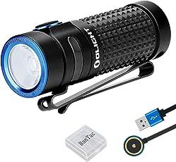 Olight S1R Baton II Mini Taschenlampe 1000 Lumen Kaltes Weiß LED Kompakt Taschenlampe USB Magnetische Wiederaufladbare EDC Kleine Taschenlampe, mit wiederaufladbare Batterie / Akku + BanTac Batteriefach