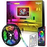Tira LED TV, 3.5M para TV de 46-65 pulgadas, Mirror, PC, Control de mñusica e iluminación a través de APP, Tira de luz 5050 R