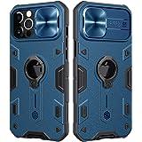 """CloudValley Funda para iPhone 12 Pro MAX 6,7"""" con Tapa de Cámara y Soporte de Anillo de 360°, Resistente a los Impactos, a Pr"""