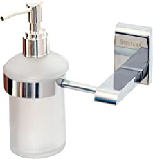 STELERA Glass Liquid Soap Dispenser for Bathroom and Wash Basin (High Grade 304 Stainless Steel) – Royal Series