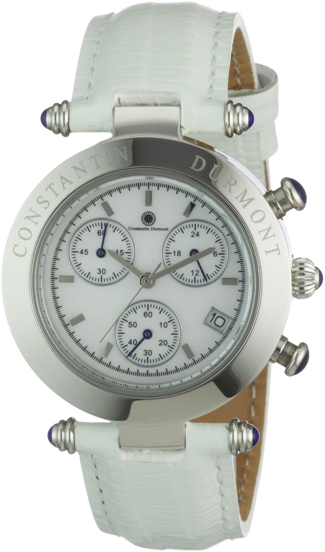 Constantin-Durmont-Damen-Armbanduhr-Visage-CD-VISL-QZ-LT-STST-WH