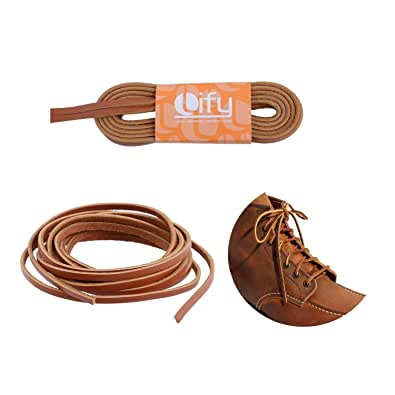 Leather shoe laces/leather String/work