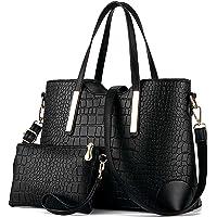 YNIQUE Handtasche Damen Groß Handtaschen Set Für Frauen Umhängetasche Taschen Shopper Reise Schultertasche 2-teiliges…